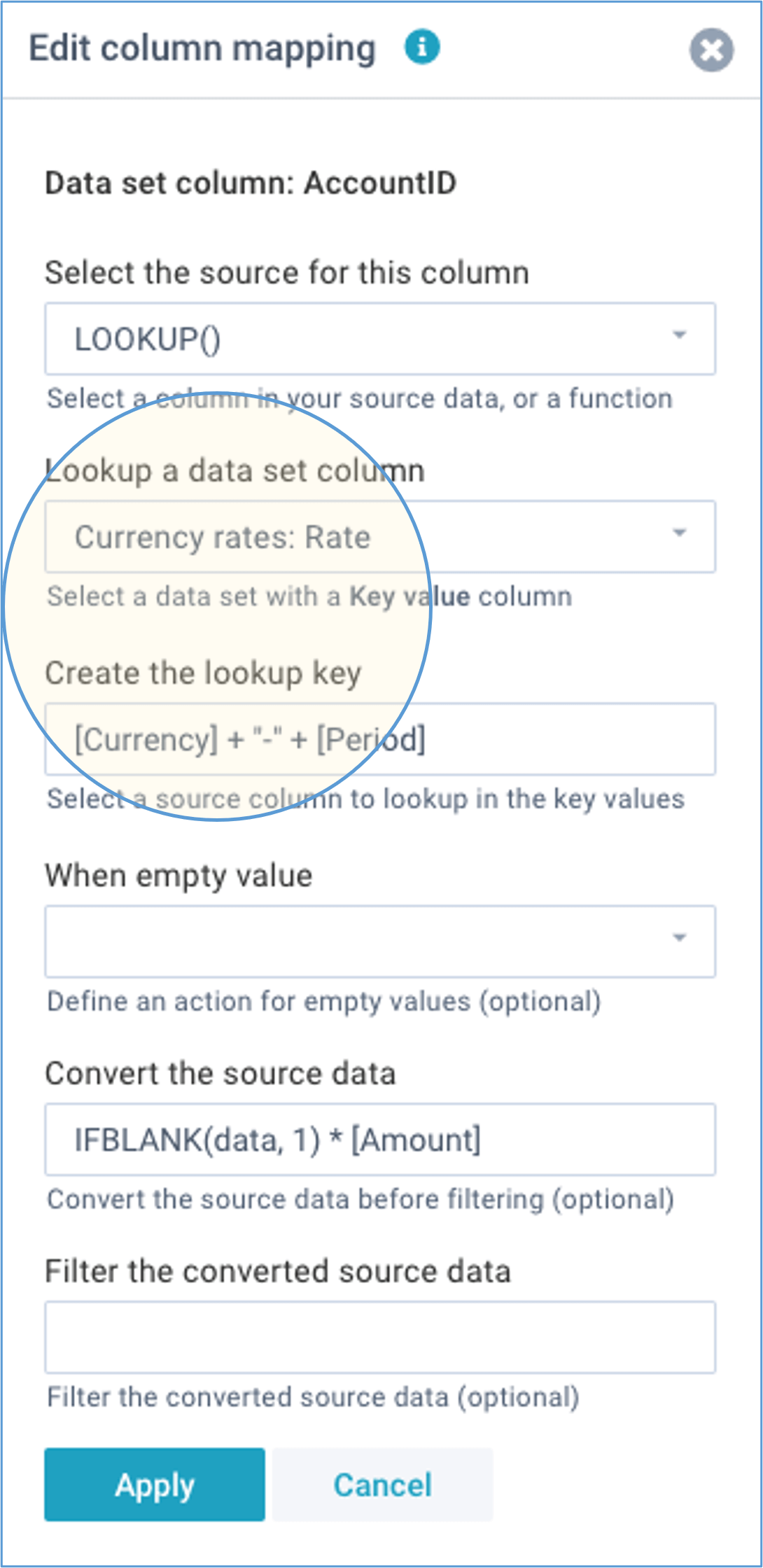 screenshot account lookup currency rates